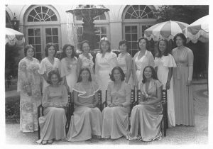 My Phi Mu sisters and me at our National Convention in 1976, Charleston