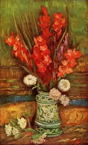 Vase with Red Gladioli, 1886,Vincent van Gogh