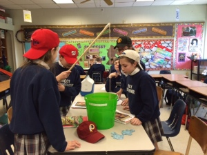 """7B Literature, """"fishing"""" for vocab words about medieval times"""