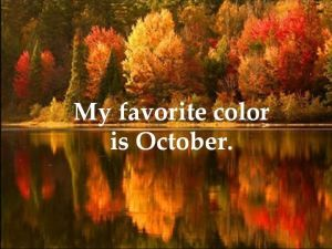 my favorite color is october