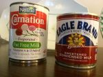 canned milk and canned sweetened milk