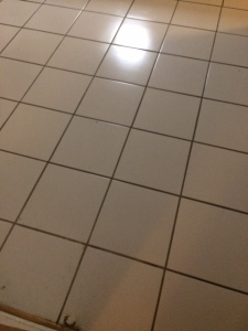 white ceramic floor