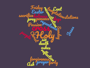 lent word cloud